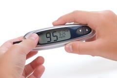испытание уровня глюкозы крови Стоковое фото RF
