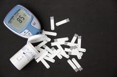 Испытание уровня сахара в крови Стоковое Изображение