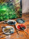 испытание цвета Стоковые Изображения