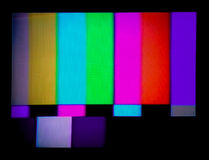 испытание tv сигнала стоковое изображение
