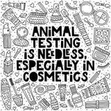 Испытания на животных необязательный, особенно в косметиках бесплатная иллюстрация