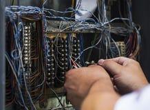 Испытывать кабельное соединение интернета Стоковая Фотография RF