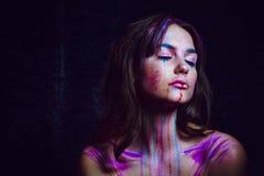 Испытывающий жажду на цвета 8 Стоковые Изображения RF