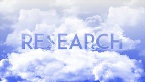 ИССЛЕДОВАНИЕ в облаках, цвета слова голубого неба бесплатная иллюстрация