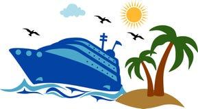 Исследование доставки туристического судна иллюстрация вектора