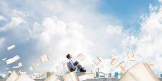 Исследование крепко, который нужно стать успешным бизнесменом Стоковое Фото