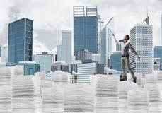 Исследование крепко, который нужно стать успешным бизнесменом стоковая фотография