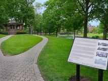 Исследование Марка Твена сохранено на кампусе коллежа Elmira стоковое изображение