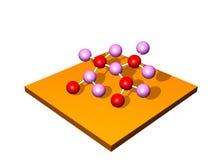 исследование молекулы иллюстрация штока