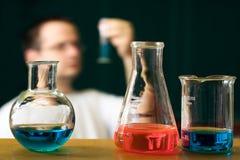 исследование принципиальной схемы химии Стоковое Изображение RF