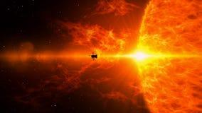 Исследование солнца корабля иллюстрация штока