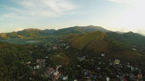 Исследовать утра воздушный и видео- города Coron PALAWAN philippines видеоматериал
