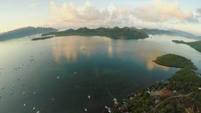 Исследовать утра воздушный и видео- города Coron PALAWAN philippines сток-видео