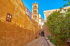 Исследуйте самый старый христианский монастырь, Синай, Египет стоковая фотография rf