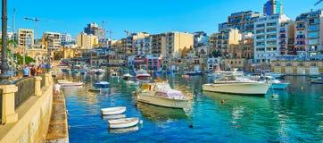 Исследуйте St юлианский, Мальту стоковое изображение rf