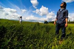 исследуя поле Стоковое Фото