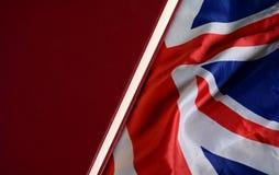 Исследование в концепция образования флага Великобритании - Великобритании Стоковое Фото