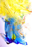 Исследование искусства малышом стоковое изображение rf