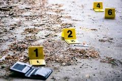 Исследование места преступления Стоковые Изображения RF