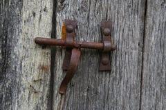 Исследование старой деревянной двери Стоковое Фото