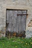 Исследование старой деревянной двери Стоковая Фотография