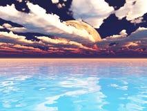 Исследование Exoplanet 3d изолировало представленный видео- белый мир иллюстрация вектора