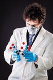 Исследователь с молекулой tnt Стоковая Фотография