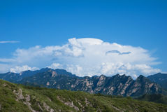 дистантные горы Стоковая Фотография RF