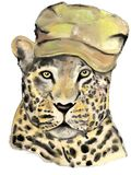 Истинный животный охотник с шляпой Стоковое Изображение