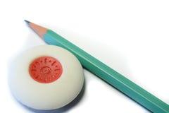 Истиратель и карандаш стоковое изображение rf
