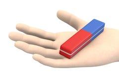 Истиратель карандаша в руке стоковые изображения rf