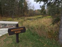 Истоки Миссиссипи Стоковое фото RF