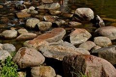Истоки реки Миссисипи на озере Itasca стоковая фотография rf