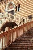 Историческая архитектура в Вероне стоковое изображение