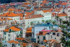 Историческая архитектура в городе разделения, Хорватии стоковое изображение