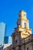 Историческая архитектура в Сантьяго, Чили стоковая фотография