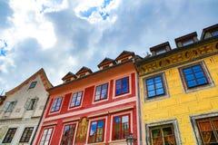 Историческая архитектура в центре Cesky Krumlov Стоковое Фото