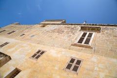 Историческая архитектура в Mdina Стоковые Изображения