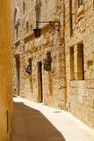 Историческая архитектура в Mdina Стоковая Фотография