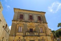 Историческая архитектура в Mdina Стоковое Изображение RF