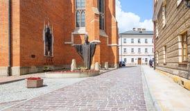 Историческая базилика в Tarnow Июнь 2019 стоковые фото