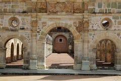 Историческая базилика Cuilapan, Оахака, Мексики Стоковые Изображения RF