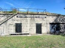 Историческая батарея Ferdinand Claiborne Вирджинии шерстей форта Стоковое фото RF