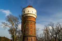 Историческая башня в городе Inowroclaw, Польши Стоковое Изображение