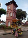 Историческая башня с часами в Melaka Стоковые Изображения