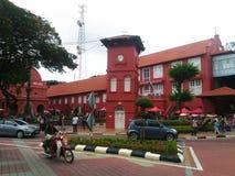 Историческая башня с часами в Melaka Стоковое фото RF