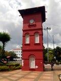 Историческая башня с часами в Melaka Стоковое Изображение RF