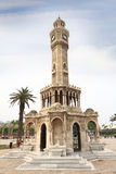 Историческая башня с часами Izmir Стоковое Изображение RF