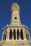 Историческая башня с часами Izmir Стоковая Фотография