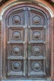 Историческая дверь в Москве Стоковая Фотография RF